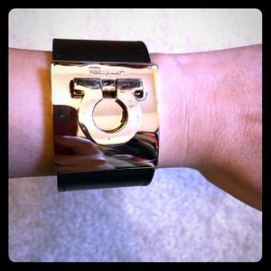 Salvatore Ferragamo leather cuff bracelet